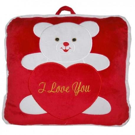 Červený plyšový vankúšik pre zaľúbených na Valentína