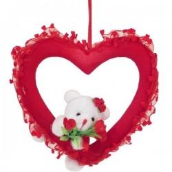 Valentínske srdiečko s mackom  - dekorácia na valentína