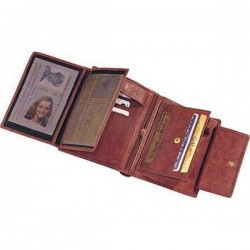 Kožená peňaženka pre pánov - hnedá farba