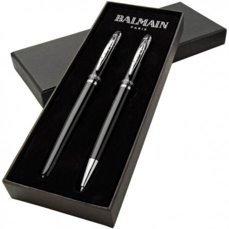 Značkové pero a roller Balmain v darčekovom balení