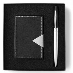 Luxusný obal na vizitky s perom