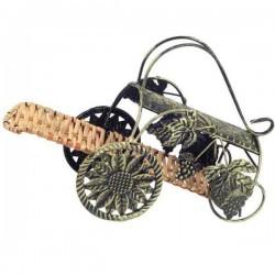 Stojan na víno vozík s rúčkou