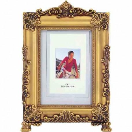 Zlatý retro fotorámik 13 x 18 cm