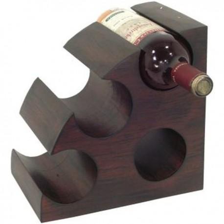 Stojan na víno drevo