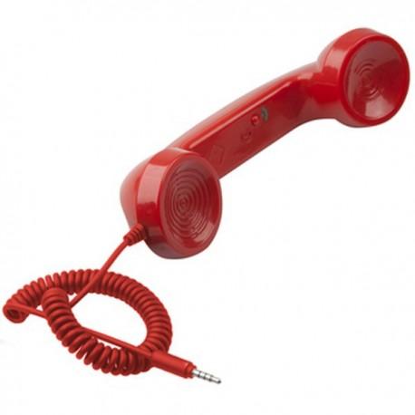 Retro slúchadlo k mobilnému telefónu červené