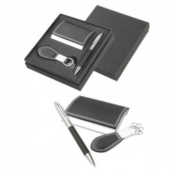 Honosný darčekový set - kľúčenka, pero, vizitkár