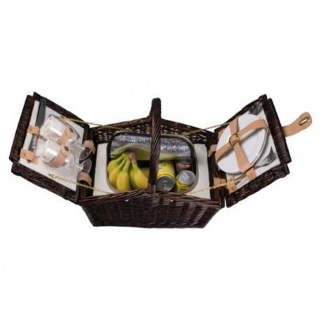 Kôš na piknik pre dvoch - tmavé prútie