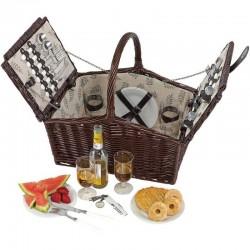 Kôš na piknik pre štyri osoby - rodinný